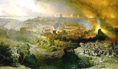Templets förstörelse och profetian
