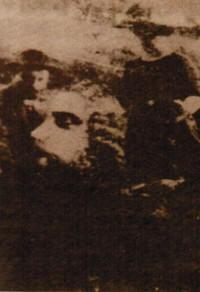 Jesu ansikte på foto