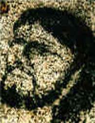 Jesu ansikte på berghäll