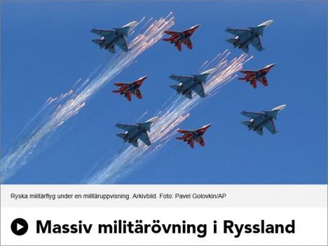 Ryssland övar för krig