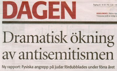 Antisemitismen ökar