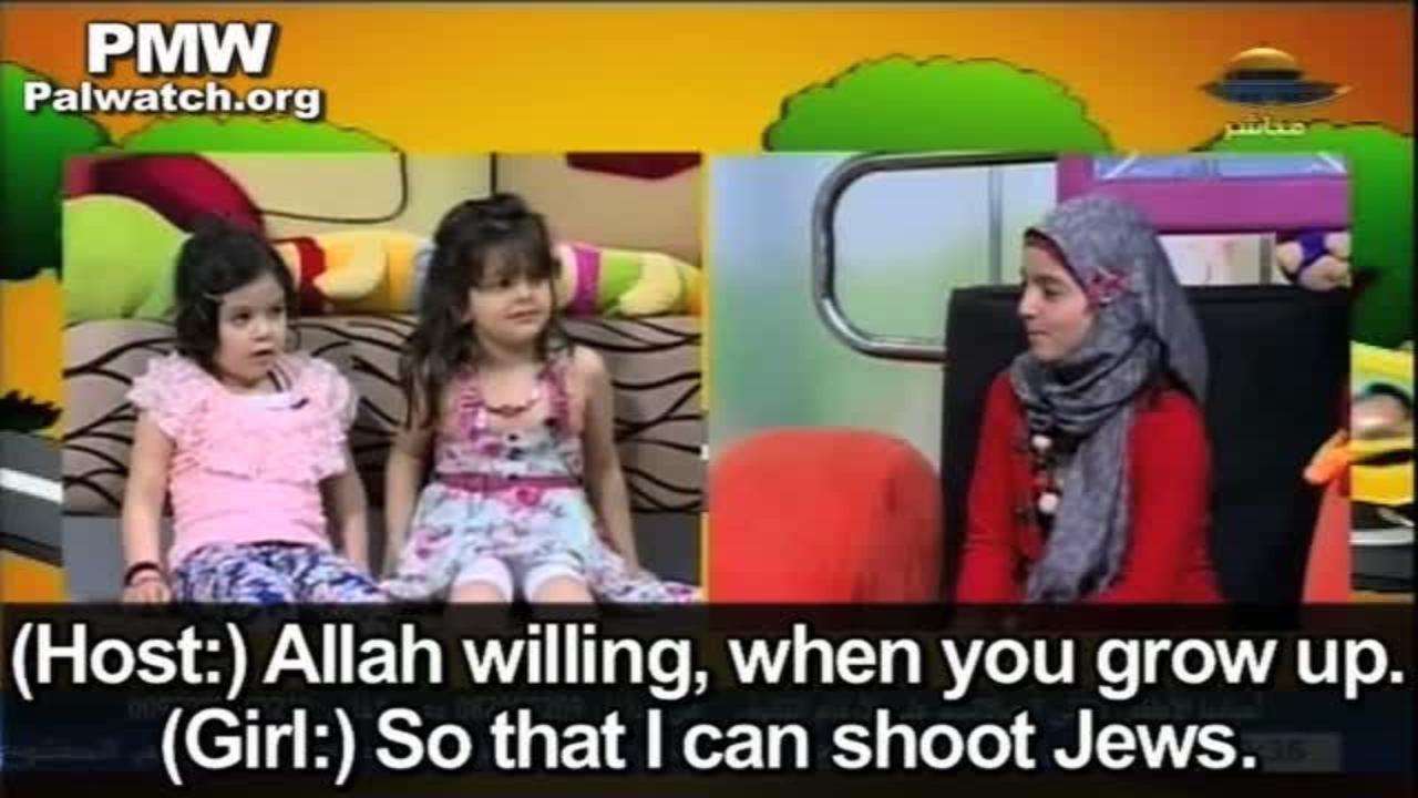 Hamas lär barn att döda judar