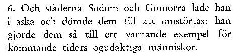 Varningen från Sodom