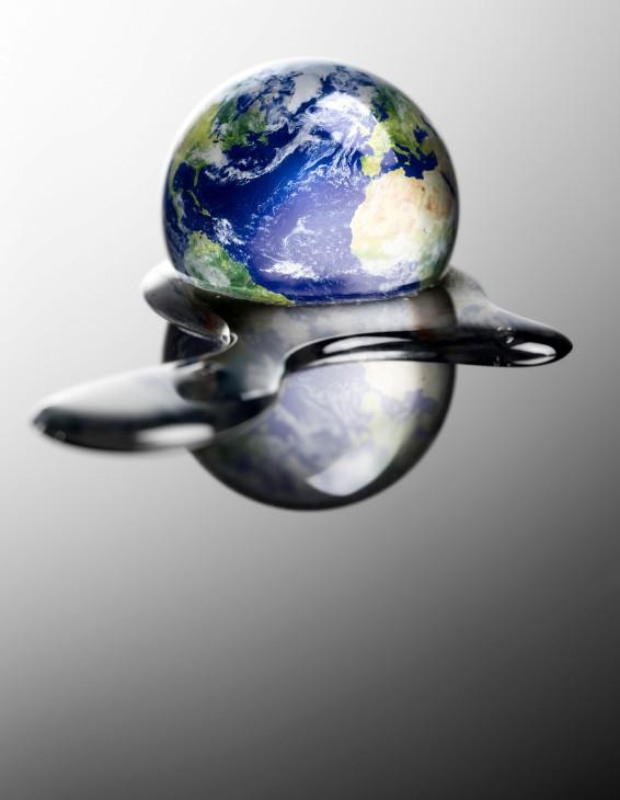 Världen smälter